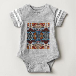 Body Para Bebê Teste padrão psicadélico da construção