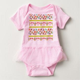 Body Para Bebê Teste padrão psicótico da páscoa colorido