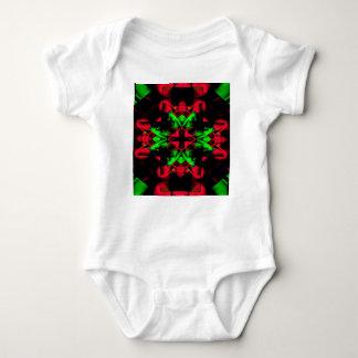 Body Para Bebê Teste padrão sazonal verde vermelho legal da