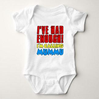 Body Para Bebê Teve bastante Mummu de chamada