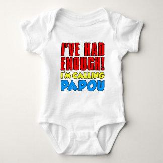 Body Para Bebê Teve bastante Papou de chamada