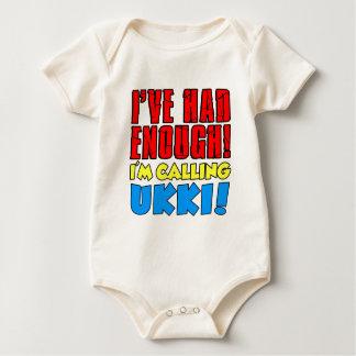 Body Para Bebê Teve bastante Ukki de chamada