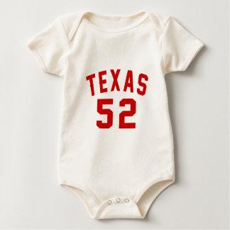 Body Para Bebê Texas 52 designs do aniversário