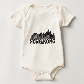 Body Para Bebê Texto da estátua de Buddha da skyline de Hong Kong