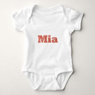 Body Para Bebê Texto   do nome da menina de MIA
