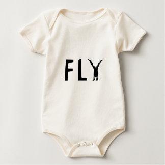 Body Para Bebê Texto engraçado da mosca e design humano
