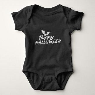 Body Para Bebê Texto feliz assustador do Dia das Bruxas com
