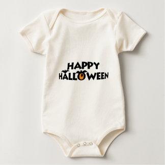 Body Para Bebê Texto feliz assustador do Dia das Bruxas com o