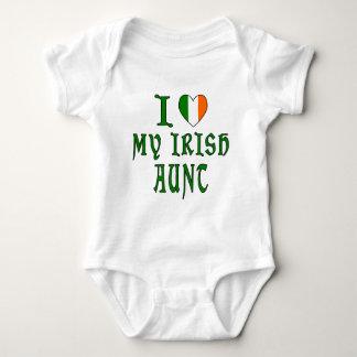 Body Para Bebê Tia do irlandês do amor