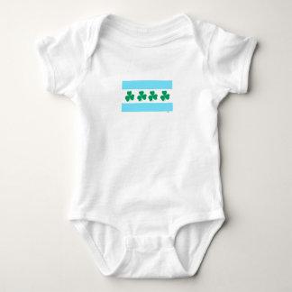Body Para Bebê Tintura da Chicago de St Patrick o verde do rio