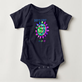Body Para Bebê Tintura total do laço da cor do eclipse solar do