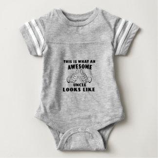 Body Para Bebê Tio impressionante