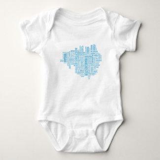 Body Para Bebê Tipo azul mapa de maior Manchester