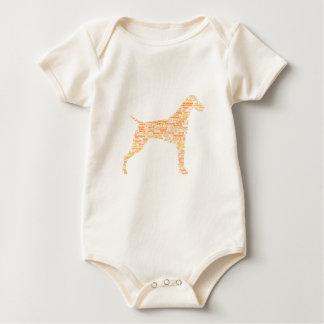 Body Para Bebê Tipografia alemão do ponteiro de cabelos curtos