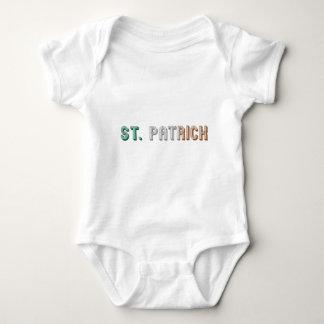 Body Para Bebê Tipografia irlandesa Ireland da bandeira de St