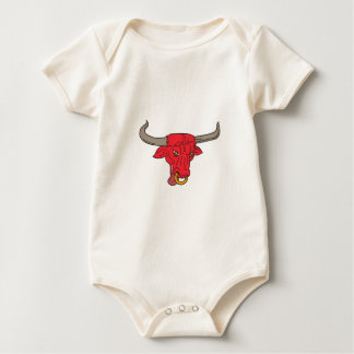Body Para Bebê Tiragem de Texas Longhorn Red Bull