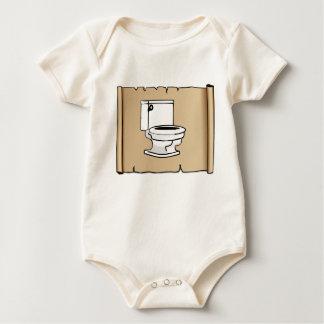 Body Para Bebê toalete tan do rolo