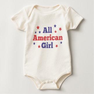 Body Para Bebê Toda a menina americana