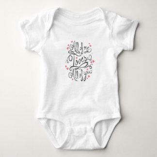 Body Para Bebê Todo o mim amores você bebê Onesy