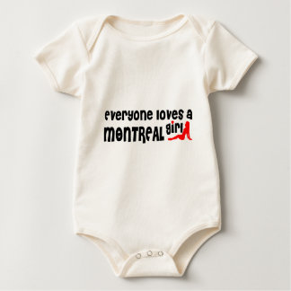 Body Para Bebê Todos ama uma menina de Montreal