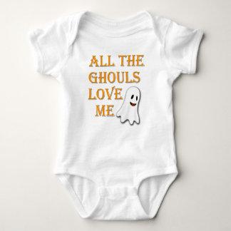 Body Para Bebê Todos os Ghouls me amam equipamento alaranjado do