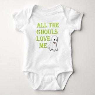 Body Para Bebê Todos os Ghouls me amam equipamento verde do bebê