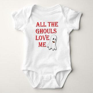 Body Para Bebê Todos os Ghouls me amam equipamento vermelho do