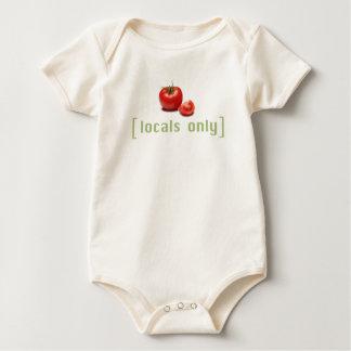 Body Para Bebê Tomate vegetal engraçado do Vegan dos Locals