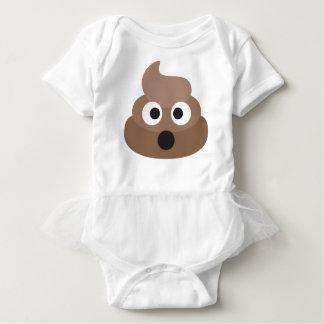 Body Para Bebê Tombadilho chocado divertido de Emoji