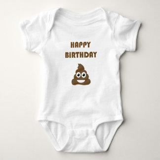 Body Para Bebê Tombadilho feliz bonito engraçado Emoji da festa
