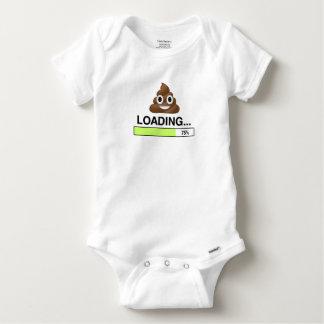 Body Para Bebê Tombadilho que carrega o t-shirt de | Emoji