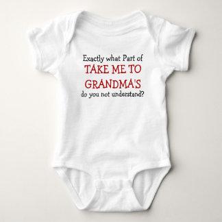Body Para Bebê Tome-me ao Bodysuit da criança do bebê da avó