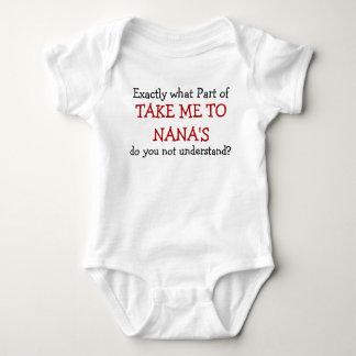 Body Para Bebê Tome-me ao Bodysuit da criança do bebê de Nana
