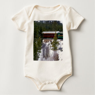 Body Para Bebê Tome um passeio do inverno na estrada de ferro do