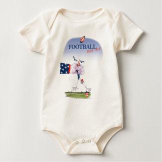 Body Para Bebê Toque do futebol para baixo, fernandes tony