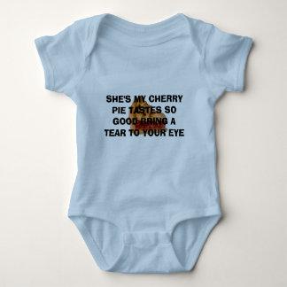 Body Para Bebê torta da cereja