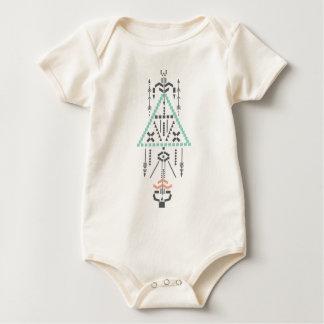 Body Para Bebê Totem de Boho, símbolo étnico, Hippie, asteca,