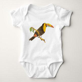 Body Para Bebê Toucan em um equipamento do bebê do ramo
