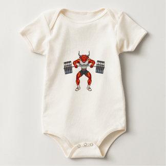 Body Para Bebê touro 2 do levantamento de peso