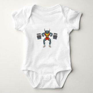 Body Para Bebê touro 3 do levantamento de peso