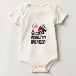 Body Para Bebê Trabalhador da indústria