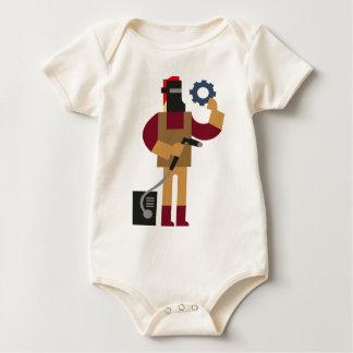 Body Para Bebê Trabalhador do metal