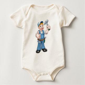 Body Para Bebê Trabalhador manual do carpinteiro dos desenhos