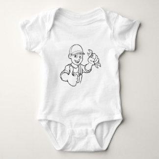 Body Para Bebê Trabalhador manual do mecânico ou do canalizador