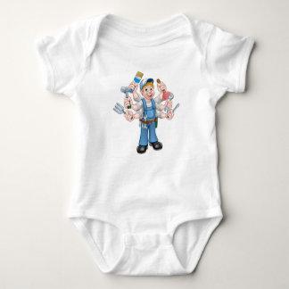 Body Para Bebê Trabalhador manual dos desenhos animados