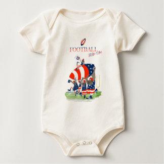 Body Para Bebê Trabalho da equipe dos EUA, fernandes tony