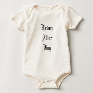 Body Para Bebê Tradicional maciço católico futuro do menino de