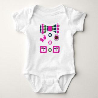 Body Para Bebê Traje cor-de-rosa do Dia das Bruxas do palhaço das