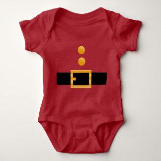 Body Para Bebê Traje do vermelho de Papai Noel do bebê do Natal