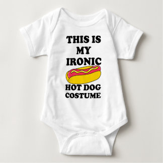 Body Para Bebê Traje irónico do cachorro quente